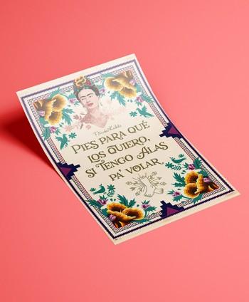 Póster Frida Kahlo Cita