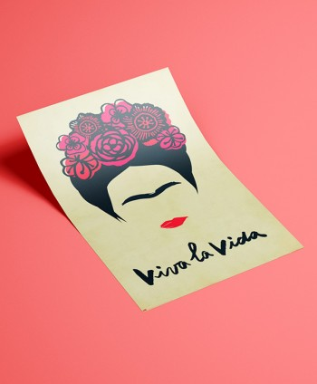 Póster Frida Kahlo Viva la...