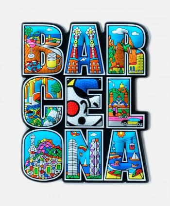 Imán - Goma Barcelona