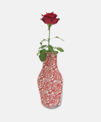 Jarrón de tela - Rosas del...