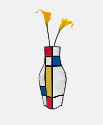 Fabric Vase - Mondrian