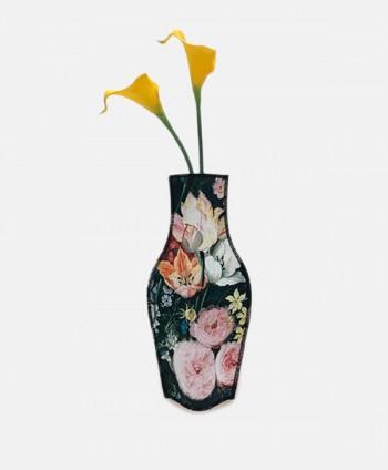 Jarrón de tela - Flores...