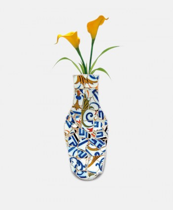 Fabric Vase - Blue Trencadis