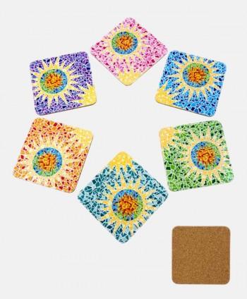 Posavasos - Mosaicos Colores