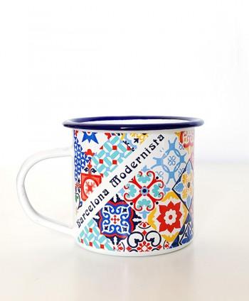 Mug - Enamel Tiles