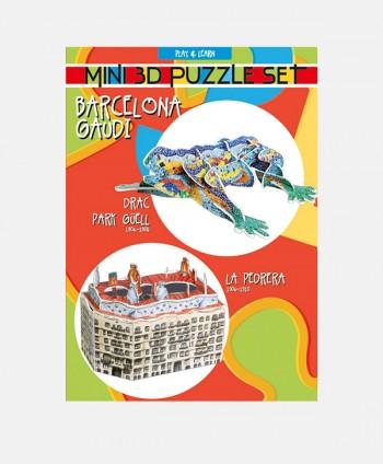 Set 2 Mini Puzzles 3D Drac...
