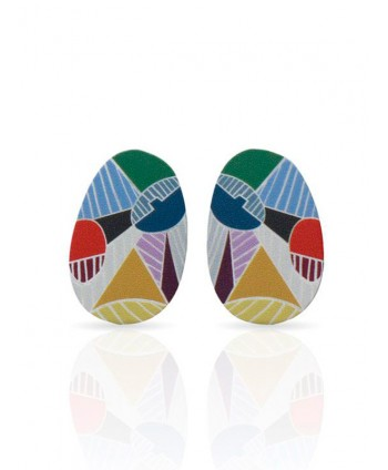Cubism Silver Small Earrings