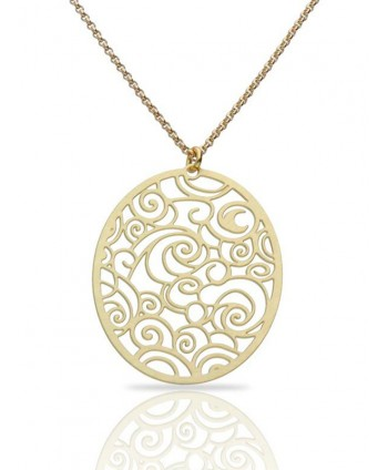 The Starry Night Gold Pendant