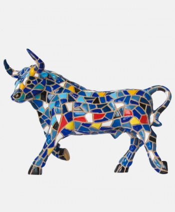 Toro Trencadís - Azul 9 cm