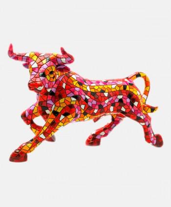Bull Mosaics Red - 18 cm