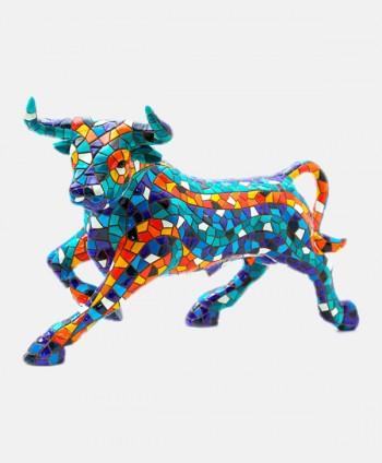 Bull Mosaics Blue - 24 cm