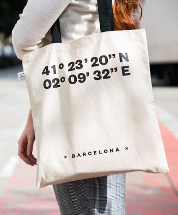 Tote Bag Barcelona Coordinates