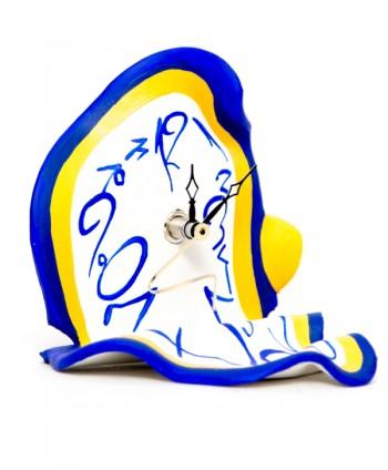 Surrealistic Clock Table Blue