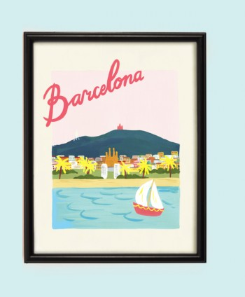 Art Print - Pink Barcelona