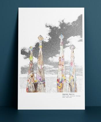 A2 Art Print - Sagrada Familia