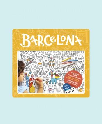 Mapa para colorear - Barcelona