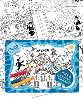 Pack 8 Postales Casa Batlló