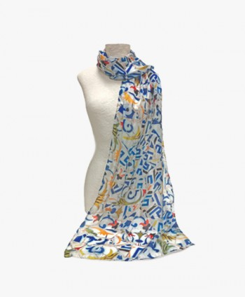 Silk Scarf - Blue Mosaic