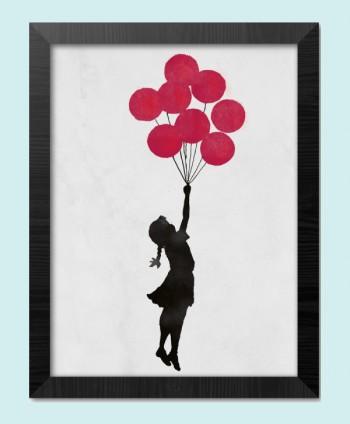 Poster & Frame Girl Floating