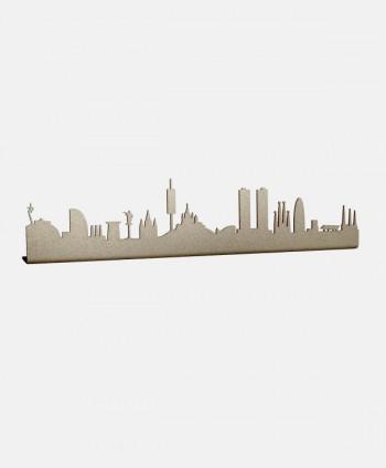 Figura Skyline Barcelona Oro