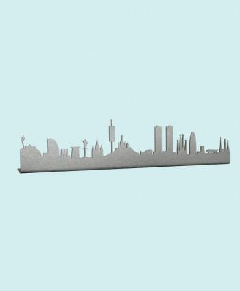 Figura Skyline Barcelona Plata